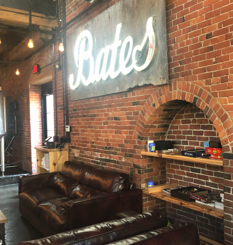 Bates Sign in Baxter Brewpub