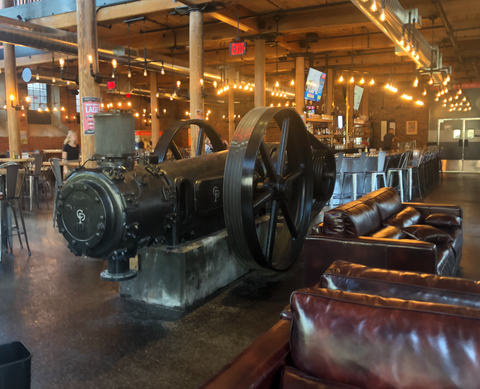 Air Compressor in Bates Powerhouse - Baxter Brewpub