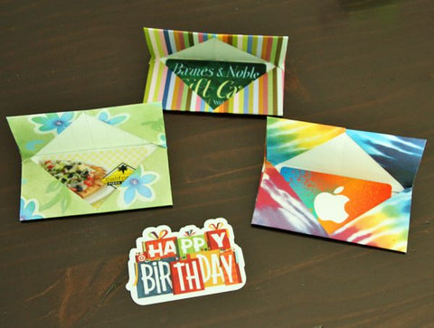 origami gift card holder instructions