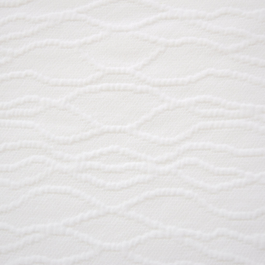 Closeout: Waves Matelasse Coverlet (Size: King, Color: White)