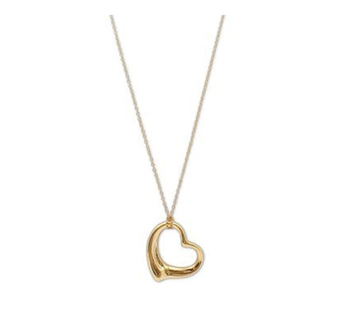 Elsa Peretti for Tiffany & Co. Open Heart Yellow Gold Pendant Necklace