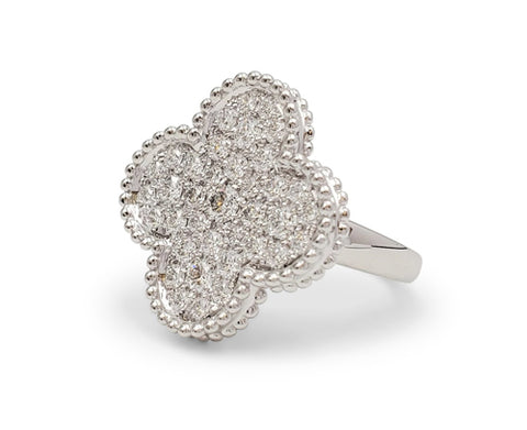Van Cleef & Arpels Magic Alhambra White Gold and Diamond Ring