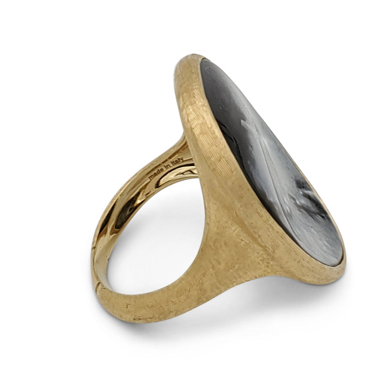Marco Bicego Lunaria Gold Black Mother-of-Pearl Ring