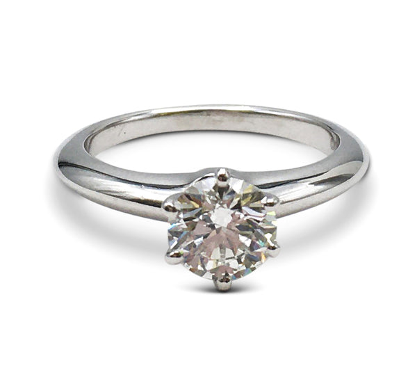 Tiffany & Co. Solitaire 0.96 Carat Diamond Engagement Ring