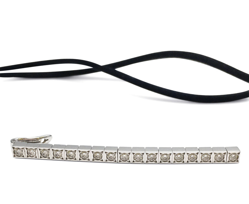 Cartier Laniere White Gold and Diamond Pendant Necklace