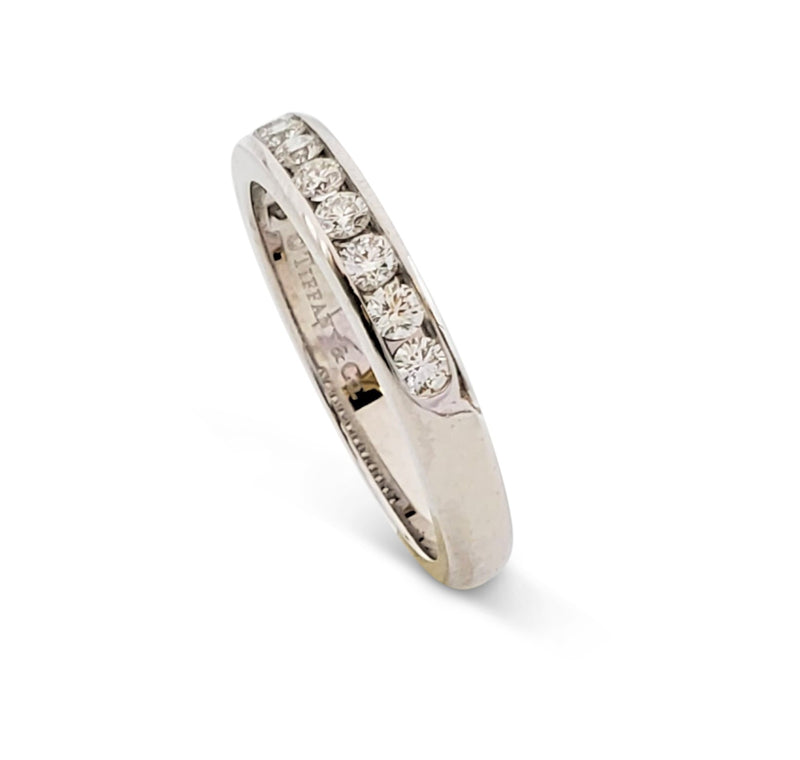 Tiffany & Co. Platinum and Diamond Half-Band