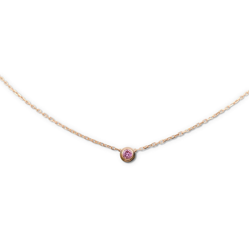 Cartier Saphirs Légers de Cartier Rose Gold and Pink Sapphire Necklace
