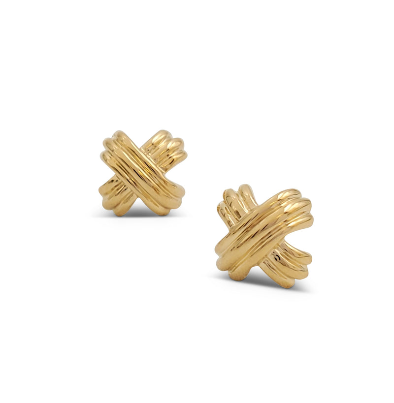Tiffany & Co. Signature X Yellow Gold Earrings