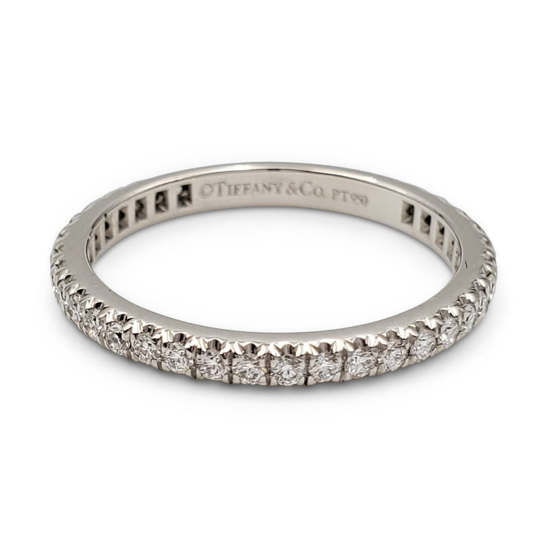 Tiffany & Co. Platinum Pavé Diamond Eternity Band