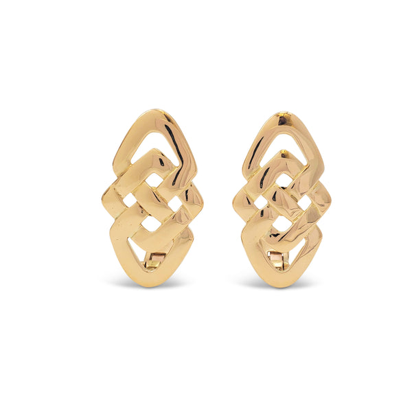 Vintage Lalaounis Yellow Gold Earrings