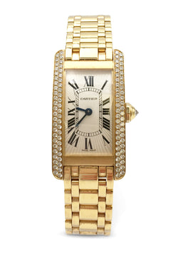 Cartier Tank Américaine Yellow Gold And Diamond Watch
