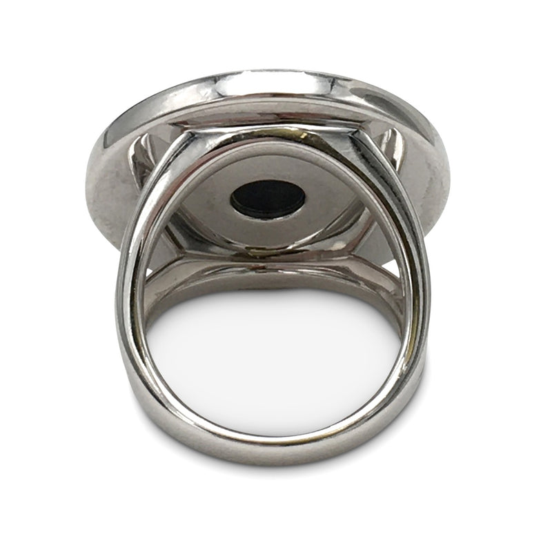 Bulgari-Bulgari White Gold Onyx Ring