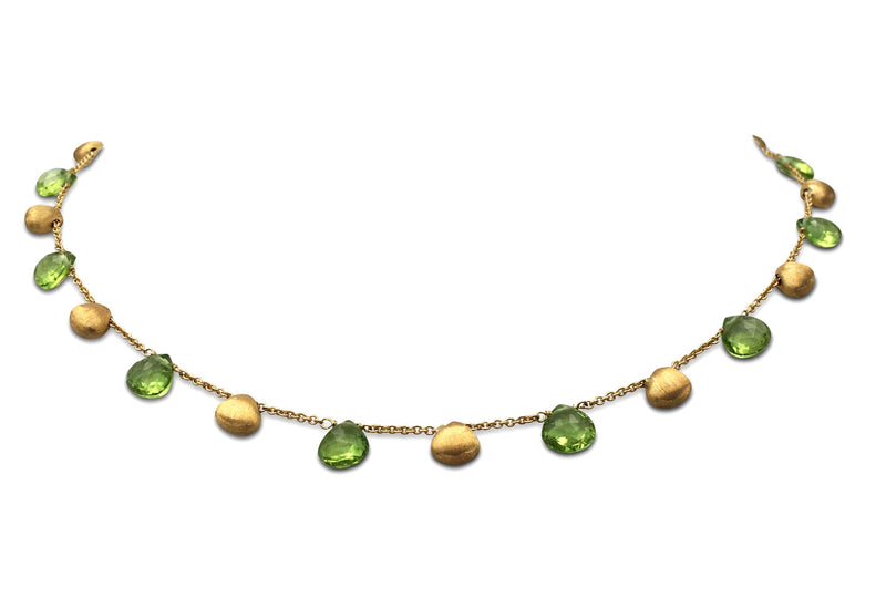 Marco Bicego Paradise Gold and Peridot Necklace