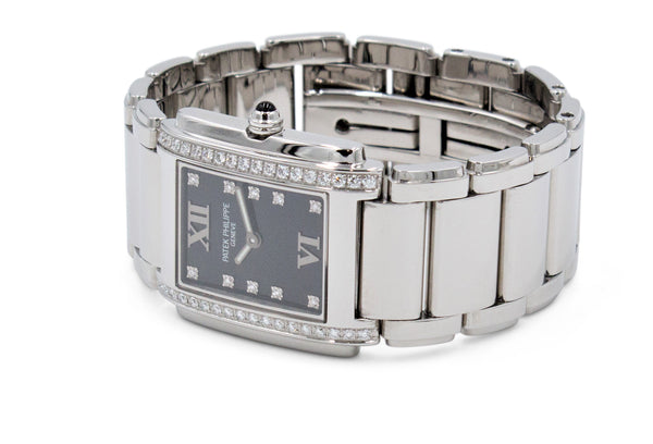 Patek Philippe Twenty~4 Stainless Steel Diamond Dial Ladies Watch