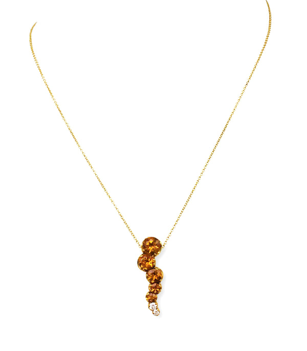 Pasquale Bruni Sun Ray Citrine and Diamond Pendant Necklace
