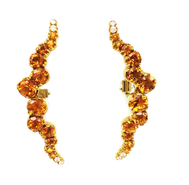 Pasquale Bruni Sun Ray Citrine and Diamond Earrings