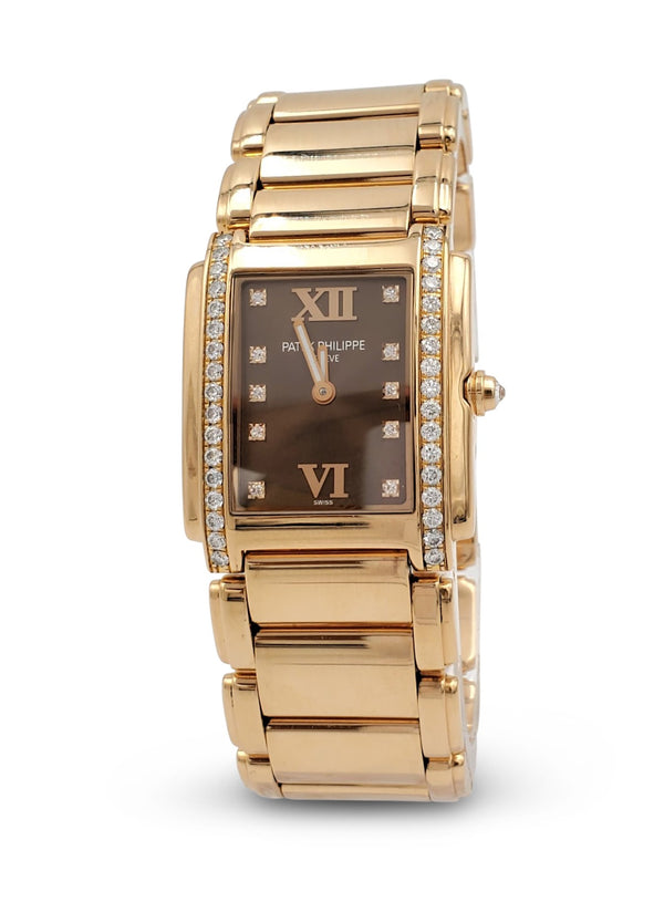 Patek Philippe Twenty~4 Rose Gold Diamond Dial Ladies Watch