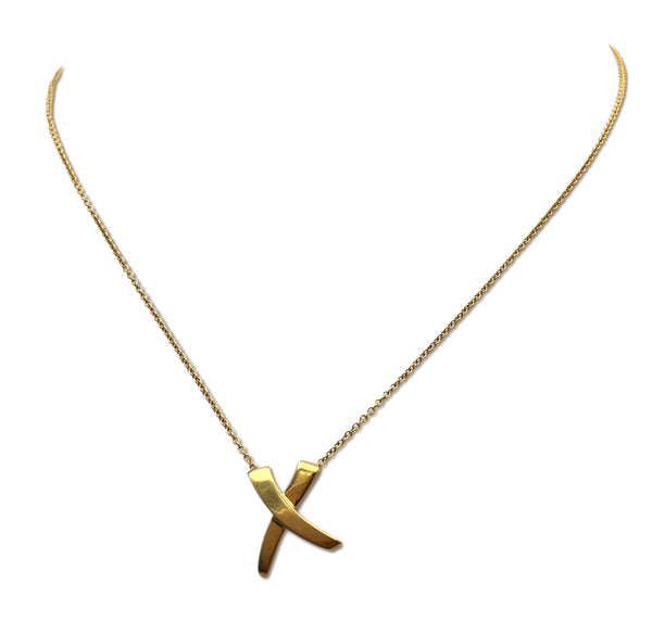 Paloma Picasso for Tiffany & Co. 'X' Gold Necklace