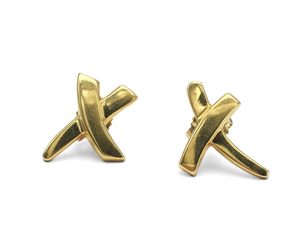 Paloma Picasso for Tiffany & Co. Gold 'X' Earrings