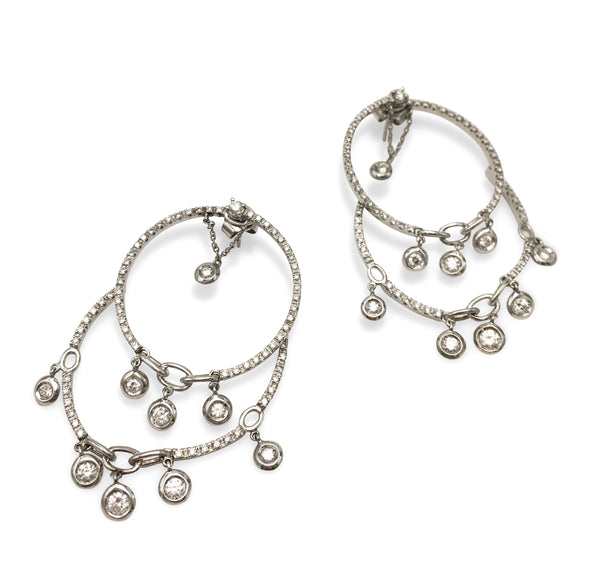 Stefan Hafner White Gold and Diamond Chandelier Earrings