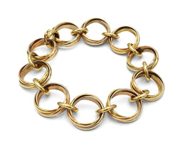 Cartier Trinity Tri-Color Gold Link Bracelet