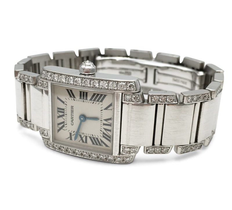 Cartier Tank Française White Gold and Diamond Ladies Watch