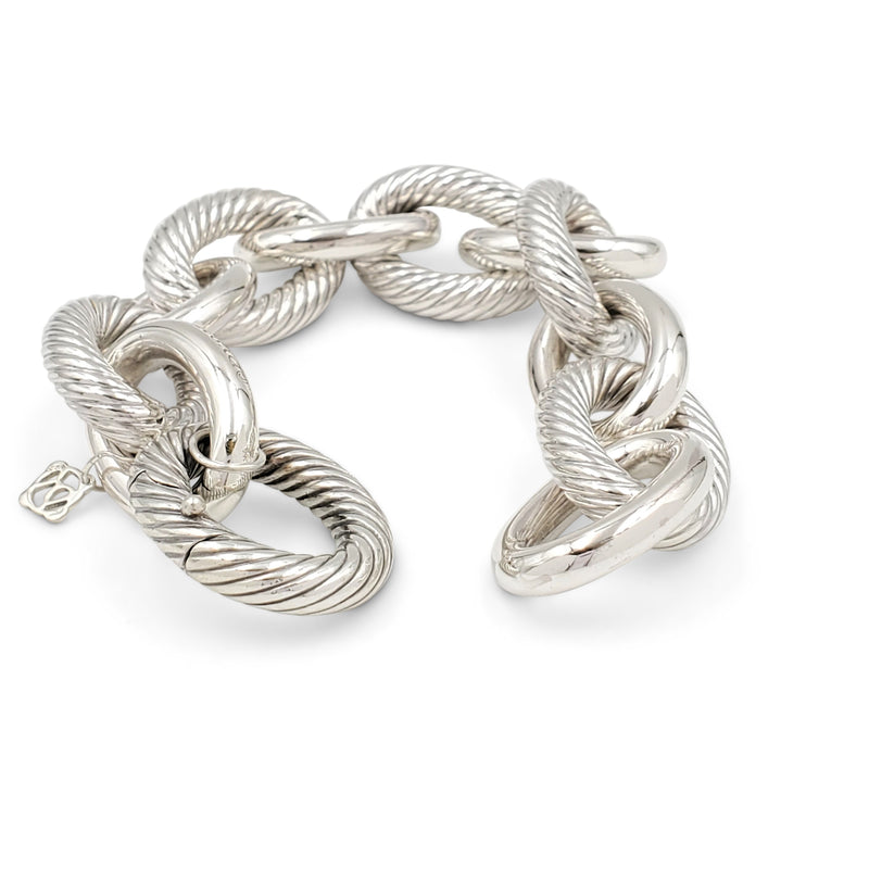 David Yurman Silver Extra-Large Oval Link Bracelet