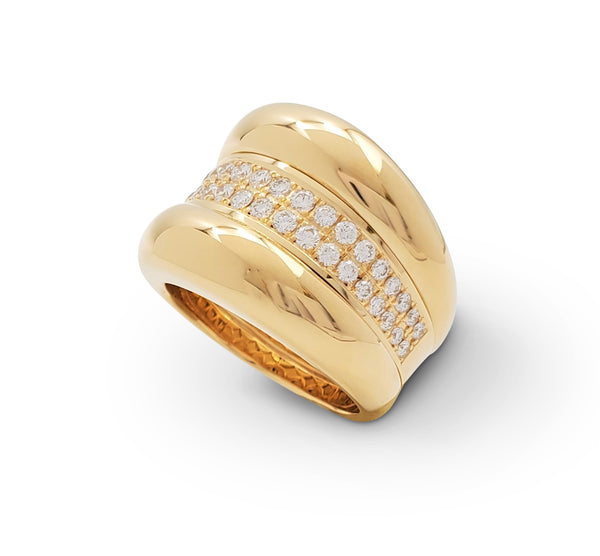 Chopard La Strada Yellow Gold and Diamond Ring