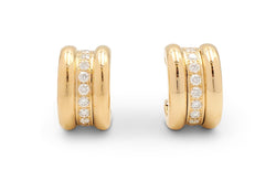 Chopard La Strada Yellow Gold and Diamond Earrings