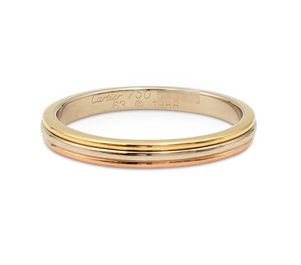 Cartier Trinity Tri-Gold Wedding Band