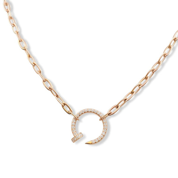 Cartier Juste un Clou Rose Gold and Diamond Necklace