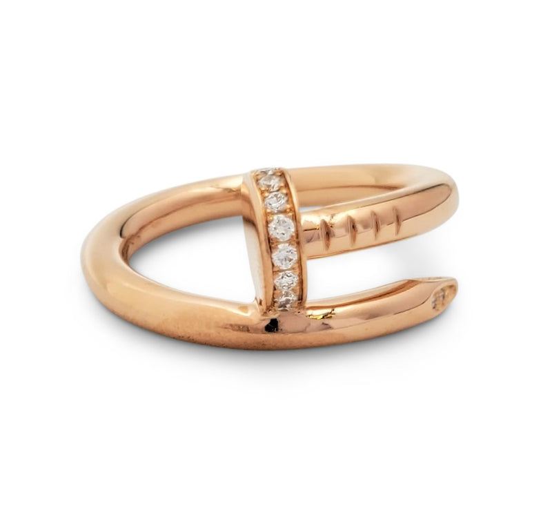 Cartier Juste un Clou Rose Gold and Diamond Ring