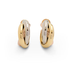 Cartier Trinity Tri-Color Gold Earrings