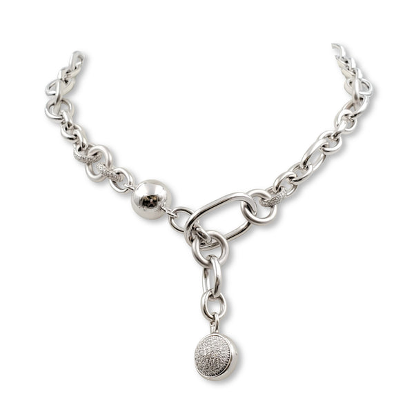 Pomellato Boule Collection White Gold and Diamond Necklace