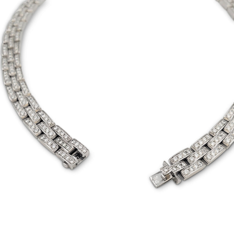 Cartier Maillon Panthère White Gold Diamond and Onyx Necklace