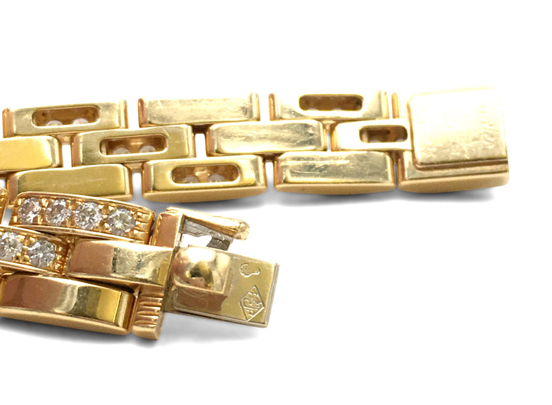 Cartier Maillon Panthère Gold and Diamond Link Bracelet
