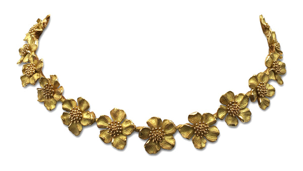 Tiffany & Co. Dogwood Flower Gold Necklace