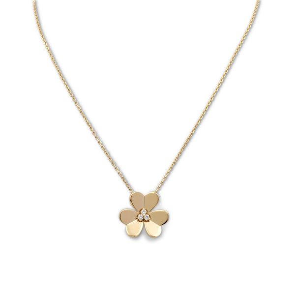 Van Cleef & Arpels Frivole Yellow Gold and Diamond Pendant Necklace, Large Model