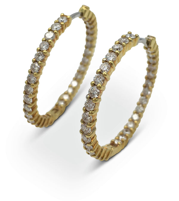 Roberto Coin Gold Diamond Earrings