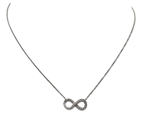 Tiffany & Co. Infinity Platinum and Diamond Necklace
