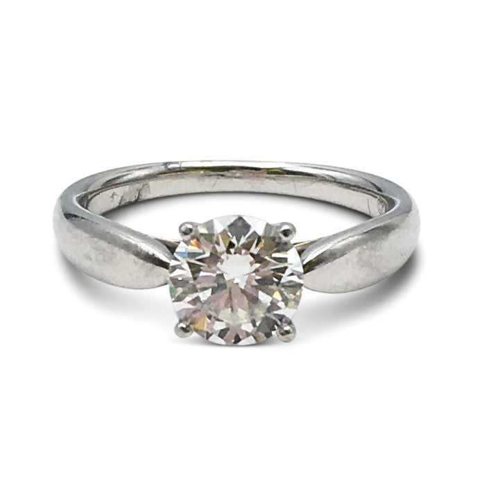 Tiffany & Co. Solitaire 0.95 Carat Diamond Engagement Ring
