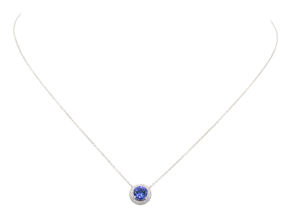 Tiffany & Co. Soleste Diamond Tanzanite Pendant Necklace