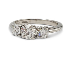 Tiffany & Co. 0.70 Carat Three-Stone Diamond Engagement Ring