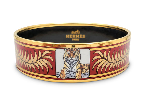 Hermès Enamel Bangle Bracelet