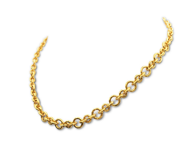 Elizabeth Locke 19 Karat Gold Toggle Necklace