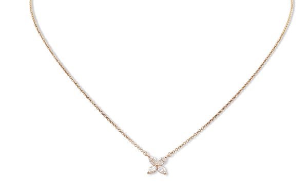 Tiffany & Co. Victoria Rose Gold and Diamond Pendant Necklace