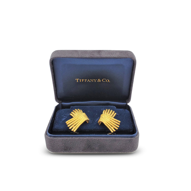Vintage Jean Schlumberger for Tiffany & Co. Gold Rope 'V' Earrings
