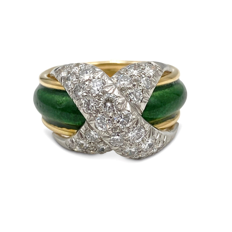 Jean Schlumberger for Tiffany & Co. Diamond Enamel Ring