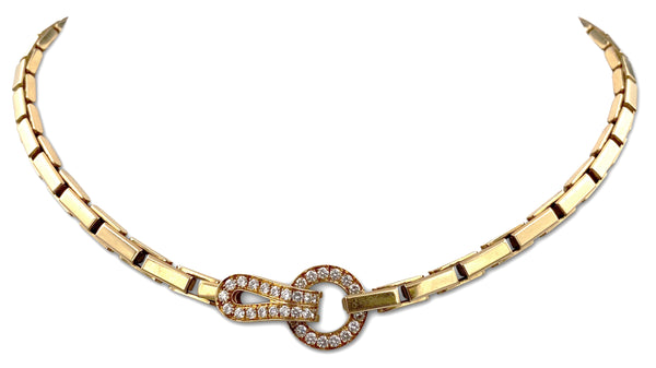 Cartier Agrafe Gold Diamond Necklace