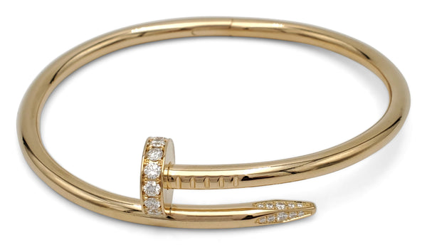 Cartier Juste un Clou Yellow Gold and Diamond Bracelet